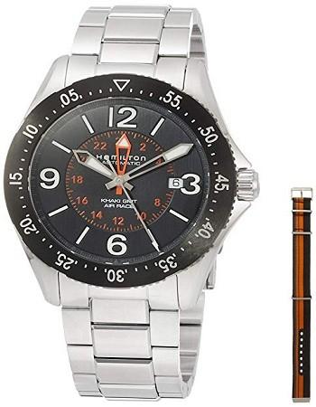 Hamilton H76755131 Khaki Aviation Pilot GMT Black Dial Automatic Men's Watch