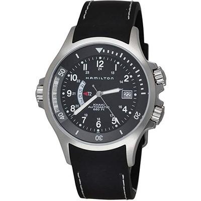 Hamilton H77615333 Men's Khaki Navy GMT Black Dial Watch