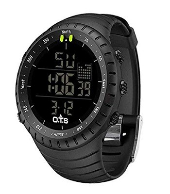 PALADA T7005G Men's Digital Sports Watch Waterproof Tactical Watch with LED Backlight Watch for Men