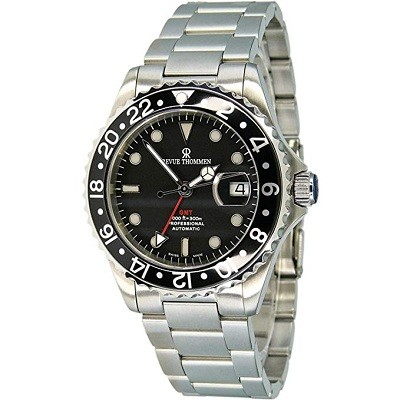 Revue Thommen 17572.2137 GMT Professional Men's Stainless Steel Automatic Swiss Made Watch