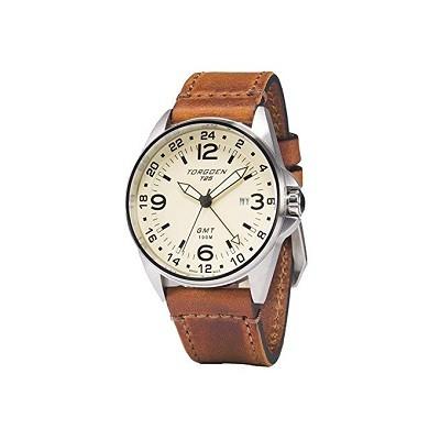 Torgoen T25 Cream GMT Pilot Watch, Sapphire Crystal