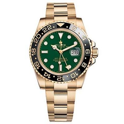 Wlisth 1164574 Luxury Swiss Crown Homage GMT Artist Great Master ii Automatic Watch 904L Steel Bracelet Sapphire Ceramic Bezel