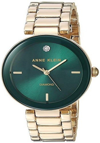 Anne Klein 1362GNGB Women's Genuine Diamond Dial Bracelet Watch