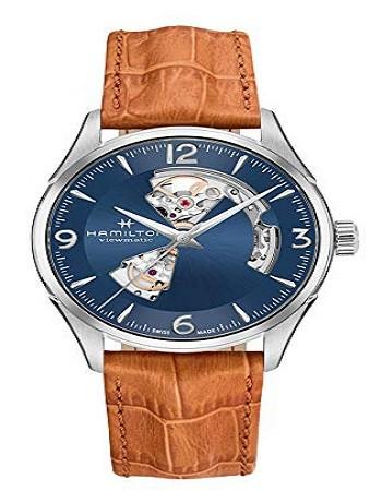 Hamilton H32705541 Jazzmaster Open Heart Automatic Men's Leather Watch