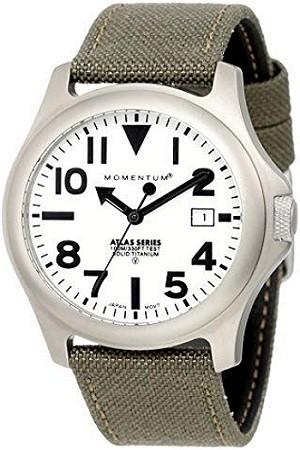 Momentum 1M-SP00W6G Men's Atlas Fieldwatch, Water Resistant and Lightweight Titanium Case