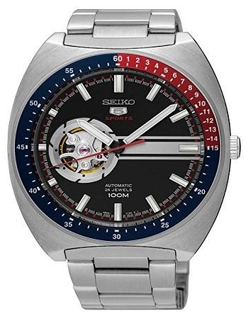 SEIKO SSA329 5 Sports 100M Retro Automatic Open Heart Watch