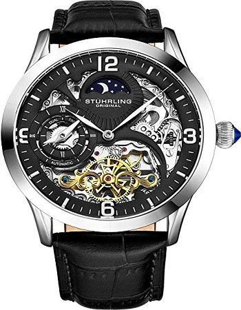 Stuhrling 3921 Original Automatic Watch for Men Skeleton Watch Dial, 571 Mens Watches Series