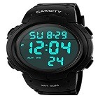 CakCity 1068 Mens Digital Sports Watch LED Screen Large Face Military Watches for Men