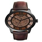 Fossil ME3098 Men's Analog Display Automatic Self Wind Brown Watch