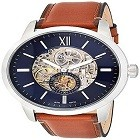 Fossil ME3154 Men's Townsman Silver Leather Automatic Fashion Watch