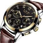 LIGE LG9810K Mens Watches Fashion Business Quartz Analog Waterproof Watch
