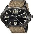 Seiko Men's SNE331 Sport Solar Black Stainless Steel Field Watch