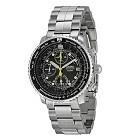 Seiko SNA411 Men's Flight Alarm Chronograph Watch