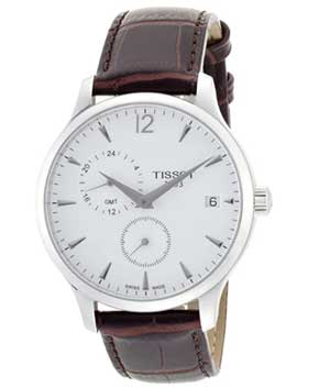 Tissot Tradition GMT Leather Men's Watch